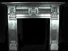 Large polished Antique Neo classical Cast iron Fire Surround // for sale in UK / March 2018