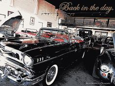 Back In the Day by Bobbee Rickard Prints available on Classic Cars, and other themes too. Click on image to view more.