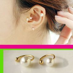 Simply Pearl Ear Clips Set (No Piercing, Adjustable) | LilyFair Jewelry, $12.99!