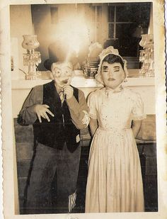 Creepy vintage Halloween costumes.