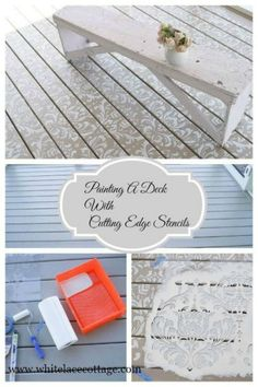 Make a great first impression ~ use stencils to paint your deck.