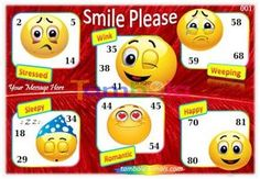 Smileys Anywhere 2 in 90 - 9x3 - 18 Cues format : Templates Tickets | Tambola Housie