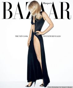 The new look Gwyneth Paltrow covers Harper's Bazaar. #Cover #Fashion #Magazine