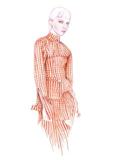 MARQUES ALMEIDA fashion illustration by António Soares | Architect's Fashion #fashionsketches,