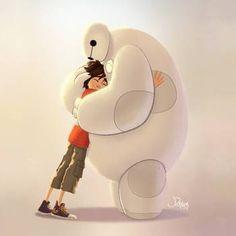 Big Hero 6 by Ransomniaccc on DeviantArt Walt Disney, Heros Disney, Disney Pixar, Hiro Big Hero 6, Big Hero 6 Baymax, Baymax Hug, Baymax Drawing, Poster Disney, Hero 6 Movie