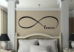 Infinity Love Decal - Couples Decals - Love Decor - Wedding Gifts - Bedroom Decals - Vinyl Wall Family Decor