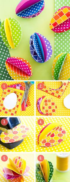 Paper Eggs | DIY Easter Decor Ideas for the Home
