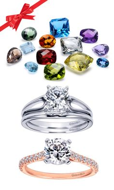Love that pop of color! Gabriel has over 1000 ring styles ready to be set with any gemstone.