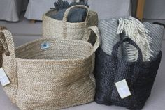 Seagrass Jute Basket