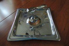 SALE  Nutcracker Hellerware Chromium Tray by BlueBarnCollectibles