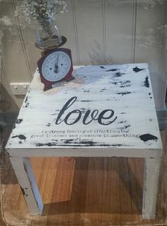 $5 Garage Sale Ikea Lack Table Make Over