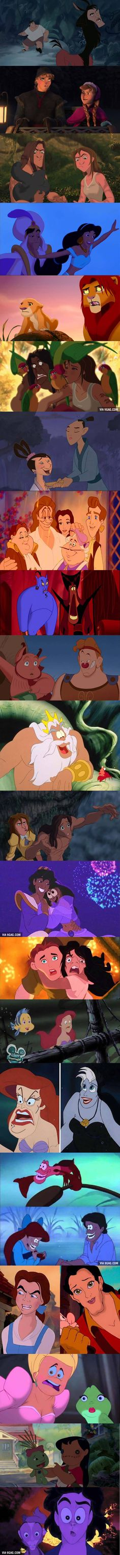 These 21 Disney's Face Swaps Are Funny.   My favorite is the Lilo and Scrump one.