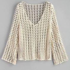 Uma baita blusa croche manga longa branca para voce e suas amigas compartilhar pra quem ama croche. Crochet Shorts, Crochet Jacket, Crochet Cardigan, Crochet Clothes, Crochet Round, Knit Crochet, Knitting Videos, Crochet Woman, Knitting Designs