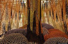 Cuddle on the Tightrope de Ernesto Neto jusqu'au 9 septembre à Nasher Sculpture Center au Texas  http://www.youtube.com/watch?feature=player_embedded=2VIegOpKKlc