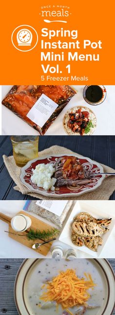 The quick, easy and delightfully tasty recipes from this Instant Pot Mini Menu can help you make the most of your time in the kitchen. From fall apart tender Italian beef roast to juicy buttermilk marinaded chicken these freezer meals make a home cooked meal on busy nights doable.
