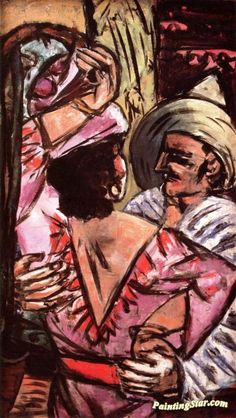 Tango Artwork by Max Beckmann Hand-painted and Art Prints on canvas for sale,you can custom the size and frame