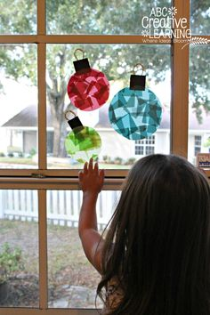 Glass Stained Window Ornaments Kids Craft Decorations