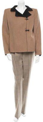 Oscar de la Renta Cashmere Pantsuit - Shop for women's Pants - Black Pants