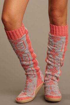 Cozy knit boots