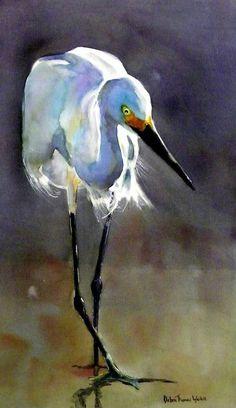 Bird Painting Acrylic, Acrylic Artwork, Watercolor Bird, Watercolor Animals, Painting & Drawing, Watercolor Paintings, Watercolors, Pelican Art, Pelican Drawing