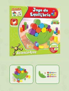JOGO DO EQUILÍBRIO Descobre: - As fantásticas atividades que podes fazer com o jogo do equilíbrio. - Aprende as cores, formas e tamanhos, enquanto te divertes!