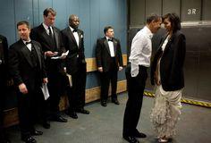 Barack en Michelle Obama na z'n verkiezingsoverwinning