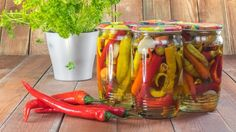 Preserved chilli peppers: pickle hot peppers: recipe without oil - You don& necessarily need oil to pick hot peppers. (Source: Thinkstock by Getty-Images) - Pickling Hot Peppers Recipe, Pickled Hot Peppers, Croation Recipes, Hot Pepper Recipes, Polish Recipes, Party Desserts, French Food, Canning Recipes, Stuffed Hot Peppers
