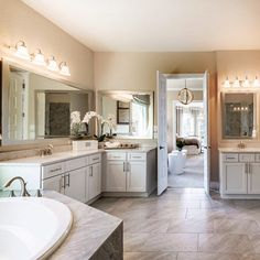 Morning routines don't seem so routine when you're in a beautiful space!   Pulte Homes