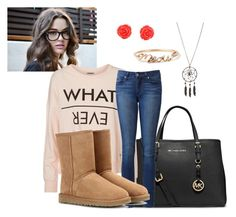 A Little Lazy, But Always Stylish by kristyivette on Polyvore featuring polyvore, fashion, style, Vero Moda, Paige Denim, UGG Australia and MICHAEL Michael Kors