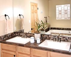 River Rock Bathroom Design, Pictures, Remodel, Decor and Ideas Asian Bathroom, Small Bathroom, Bathroom Ideas, Bath Ideas, Neutral Bathroom, Bathroom Accents, Bathroom Plans, Rustic Bathrooms, Bathroom Designs