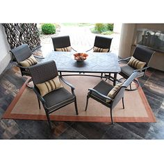 Lake Park 7-Piece Patio Dining Set, Seats 6 - I like this set from Walmart $799