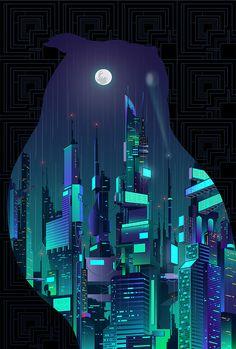 A print inspired by Blade Runner for Bottleneck Gallery in New York