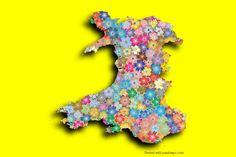 Wales Photo Map Maker. Place your own pictures on the Wales map and apply the shadow effect.
