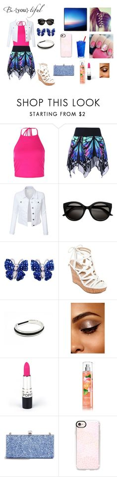 """""""summer dress up day"""" by hannahbanana200314 ❤ liked on Polyvore featuring Boohoo, LE3NO, La Fleur Jewels, GUESS, Jimmy Choo and Casetify"""