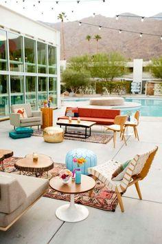Dream wedding lounge - from Yeah! Rentals. Specializing in midcentury design rentals.