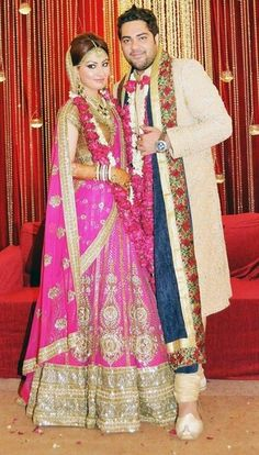 Sabyasachi Bride in Pink and Gold