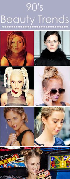 90s beauty trends: A DDG Moodboard of beauty trends from our favourite decade
