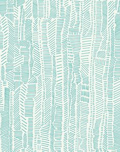 Overview A mix of structure and character, a practiced balance of expressive mark-making and thoughtful composition. Linear Field is versatile and modern - in aqua blue on ivory. POPPY offers a water-