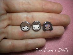 Earrings stud The Walking Dead: Daryl Dixon, Rick Grimes and Michonne - cute kawaii