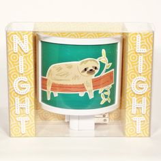 Lazy Sunday SLOTH Sweet Cute Night Light by GetToKnowYouKnow, $22.00