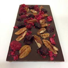 Dark Chocolate Pecans Figs and Raspberry #chocolabau #sydneyfoodie #chocolate