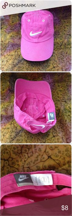 NIKE Girl's Hat💞 💞NIKE Girl's Pink Hat/Cap. Adjustable Velcro in back. EUC💞 Nike Accessories Hats