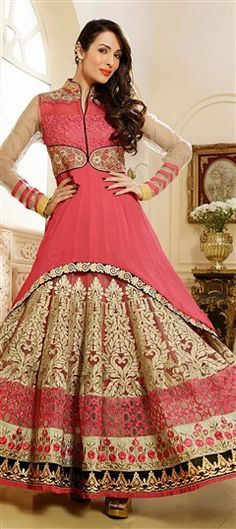 Pink and Majenta Bollywood Salwar Kameez in Faux Georgette || GOD I'M DYIIIIIIIIIIIIIIIING!!!!!!!!!!!!!!!