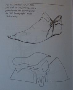 Chopine, Zoccolo, and Other Raised Heel and High Heel Construction Chopine, Zoccolo und andere Konst Medieval Books, Medieval Armor, Renaissance Costume, Medieval Costume, Medieval Clothing, Historical Clothing, Shoe Template, Medieval Party, Clothing Patterns