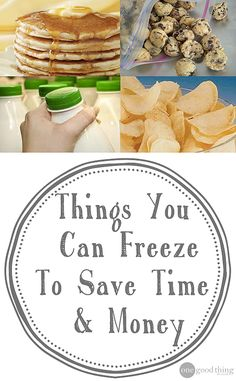 Good information about WHAT to freeze, and HOW!