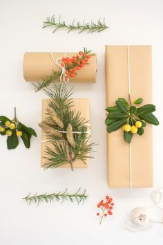 DIY: Botanical Gift Wrap