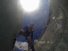 Mont Blanc Trip 2014: Mer de Glace, gopro in a crevasse
