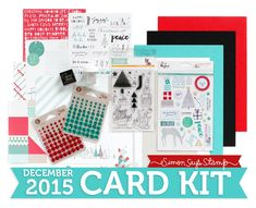 Simon Says Stamp December Card Kit Reveal: Gifts of Love (Fog, Lipstick, Audrey, Black and 120 lb cardstock, Lakeshore, Fog and Smoke inks)