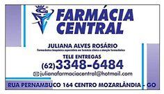 Eu recomendo Farmácia Central- Centro, #Mozarlândia, #Goiás, #Brasil