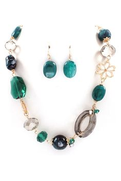 Crystal Cameron Necklace in Teal
